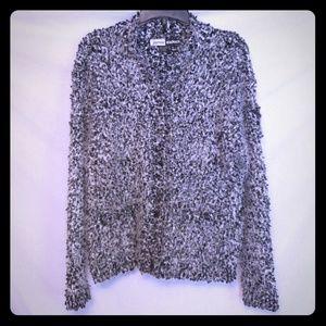 Jamie Sadock Fuzzy Cardigan Sweater Sz M